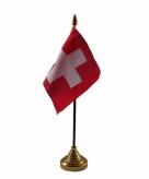 Zwitserland versiering tafelvlag 10 x 15 cm