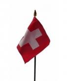 Zwitserland vlaggetje polyester